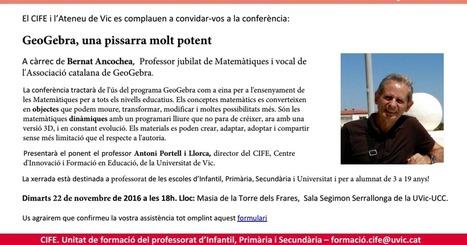 Conferència: GeoGebra, una pissarra molt potent. Vic, 22 de novembre | Full Informatiu Digital del CRP Vallès Oriental III | Scoop.it