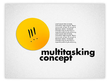 Multitasking Concept Presentation Template | PowerPoint Diagrams, Charts, and Shapes | Scoop.it