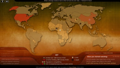 Breathingearth - CO2, birth & death rates by country, simulated real-time | Education for Sustainable Development | Scoop.it