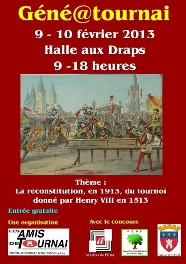 5e édition de Géné@Tournai (Belgique) | Auprès de nos Racines - Généalogie | Scoop.it