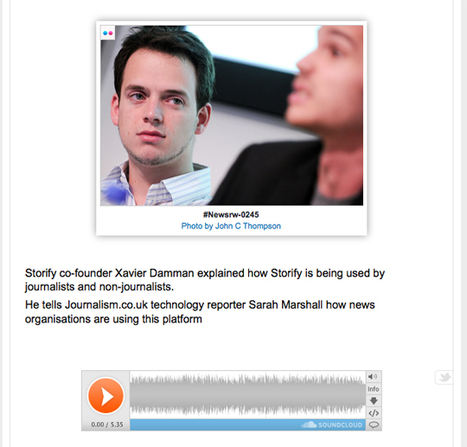 You can now add SoundCloud recordings to Storify   Editors' Blog   Journalism.co.uk   Convergence Journalism   Scoop.it