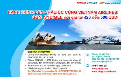 [Air tickets] Hành trình đến Châu Úc cùng Vietnam Airlines | Service for expat in Vietnam | Scoop.it