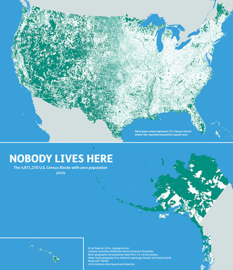 Map - The 47% of the US where nobody lives | EGHS Geography | Scoop.it