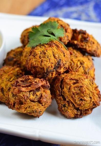 Oven Baked Onion Bhaji | Slimming Eats - Slimming World Recipes | Slimming World recipes | Scoop.it