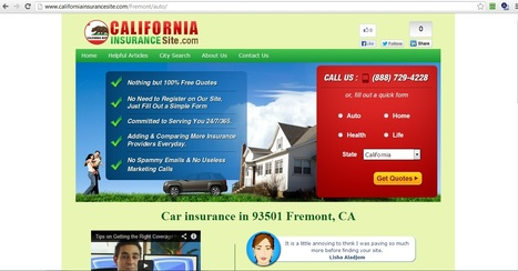 Car insurance and Auto insurance in 93501 Fremont, California | auto insurance fremont | Scoop.it