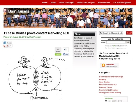 11 case studies prove content marketing ROI | Stories - an experience for your audience - | Scoop.it