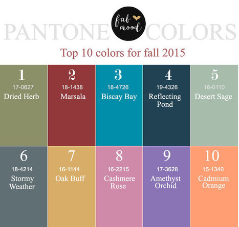 Top 10 colors for Fall- Pantone Report & Top Jewelry Stores showcase | All Things New Jersey | Scoop.it