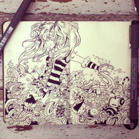 365 Days... Mindful Meditation of Daily Drawings | Kunst & Cultuur in de klas | Scoop.it