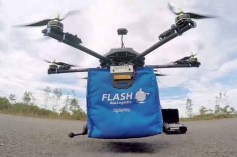 Bordeaux teste la livraison de médicaments par drones autonomes | Buzz e-sante | Scoop.it