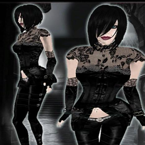 Gothic Clothing Silk Rose Set by L&B | Teleport Hub | Second Life Freebies | Scoop.it