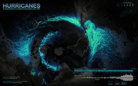 DANS LE VENT – Une carte mondiale des ouragans depuis 1851 | Tables à poussière | Scoop.it