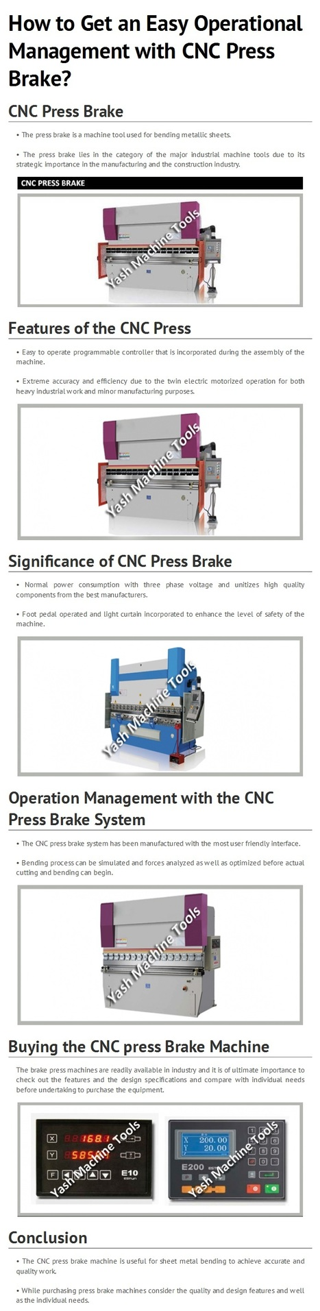 Explore Operation Management of CNC Press Brake by www.yashmachine.com   Lathe Machines   Scoop.it