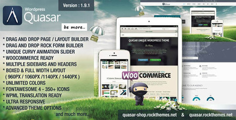 Quasar v1.9.1 - Wordpress Theme with Animation Builder - Yocto Templates | YOCTO WordPress Themes & Plugins | Scoop.it
