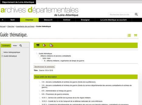 Les inventaires des archives de la Grande Guerre en (première) ligne            [ Archives départementales de Loire-Atlantique] | Histoire 2 guerres | Scoop.it