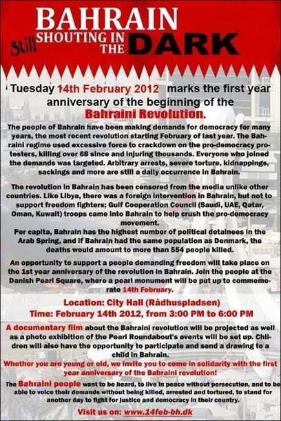 International recognition and solidarity with Bahrain on February 14 ! | Human Rights and the Will to be free | Scoop.it