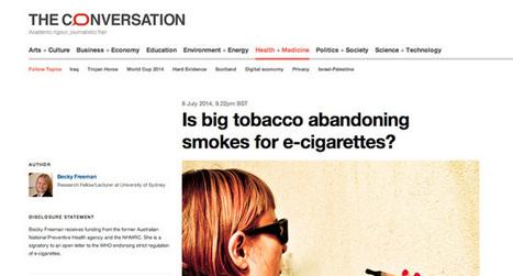 Big Tobacco abandonnerait-il les cigarettes au profit de la cigarette ... | cigarettevirtuelle | Scoop.it