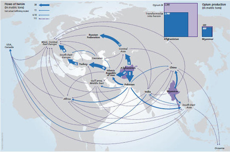 The Geography of Drug Trafficking | Developing Spatial Literacy | Scoop.it