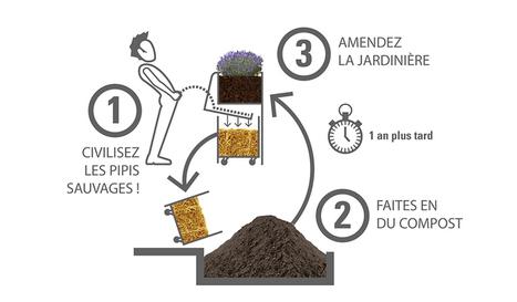 Un urinoir qui fait pousser des fleurs | Économie circulaire locale et résiliente pour nourrir la ville | Scoop.it