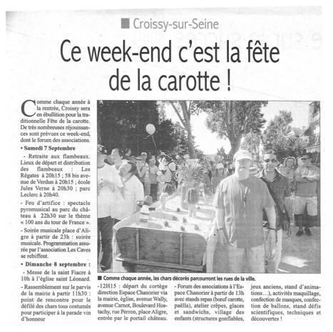 Fête de la Carotte à Chanorier   Croissy sur Seine   Scoop.it