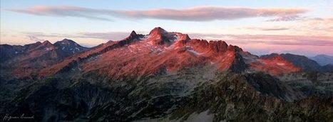 Néouvielle rosit par le soleil - Hugues Enond  | Facebook | Vallée d'Aure - Pyrénées | Scoop.it