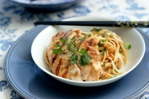 Sesame Noodles with Grilled Cod | À Catanada na Cozinha Magazine | Scoop.it