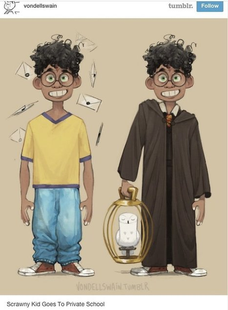 Brilliant Fan Artists Depict Nearly All-White Harry Potter Cast as People of Color | anti-racism framework | Scoop.it