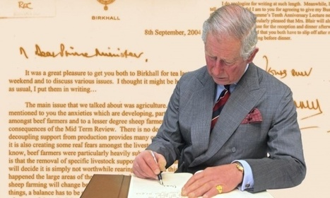Prince Charles's 'black spider memos' show lobbying at highest political level | Psycholitics & Psychonomics | Scoop.it