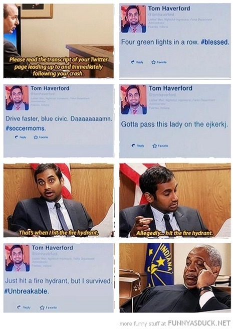 Parks & Recreation: Tom's Car Accident | Social Media In Traditional Media | Scoop.it
