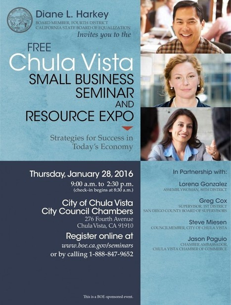Chula Vista Small Business Seminar and Resource Expo | San Diego Center for International Trade Development | International Trade | Scoop.it