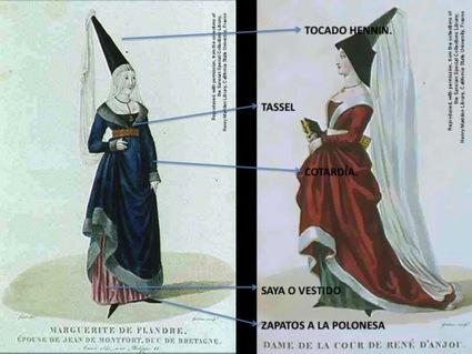 Indumentaria Femenina en la Baja Edad Media | Época Medieval: Vestuario y Calzado | Scoop.it
