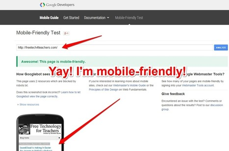 Free Technology for Teachers: Is Your Blog Mobile-Friendly? Here's How to Check - And Why It Matters | Edtech PK-12 | Scoop.it