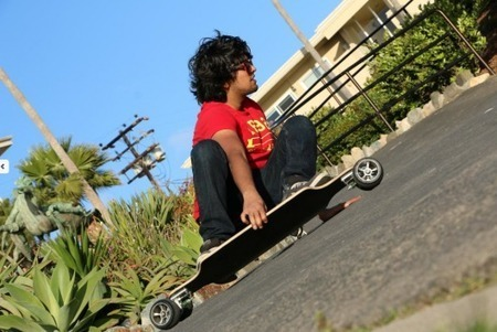 Lean Skateboard initiates sure turns with tilting, multi-link wheels - Gizmag | Surfing Culture | Scoop.it