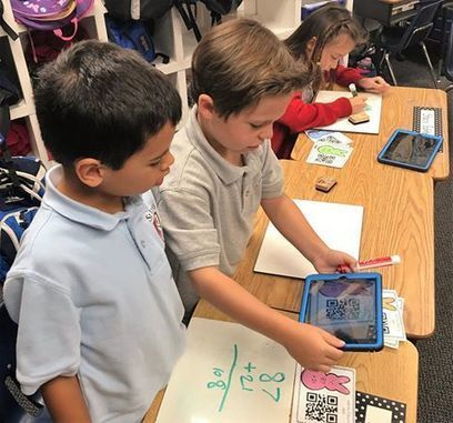 First grade students are busy learning... - St. John's Episcopal School | Facebook | QR Code - NFC Marketing | Scoop.it