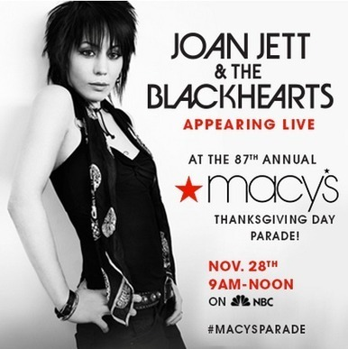Joan Jett and the Blackhearts will be in the Macy's Thanksgiving Day Parade | Queens Our City Radio Rock Music News | Scoop.it