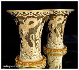 The Antiques Collection features a pair of Rosenthal Art Deco Vases | Antique Pottery & Porcelain Marks | Scoop.it