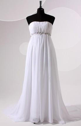 Sleeveless Empire & A-line Court Train White Wedding Gowns - Wedding Dresses | Wedding Dresses | Scoop.it