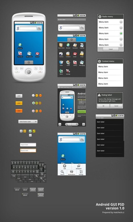 Free Website UI Wireframe Kits & Stencils | Design Inspiration | PSD Collector | Outils & Logiciels wireframing | Scoop.it