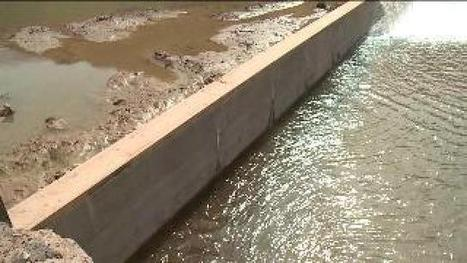 "River barrier erected to protect endangered fish - fox13now.com (""solving a human intrusion"") 