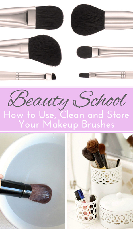 Beauty School: How to Use, Store and Clean Makeup Brushes | Beauty and makeup MUST KNOWs! | Scoop.it
