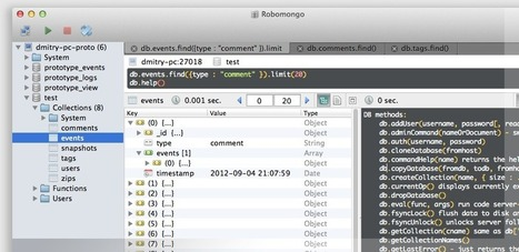 Robomongo — shell-centric MongoDB management tool (MongoDB Admin UI) | node web programming | Scoop.it