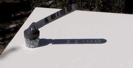A 3D-Printed Digital Sun Dial Is as Easy to Read as a Cheap Digital Watch | SMART URBANISM + PARAMETRIC DESIGN | Scoop.it