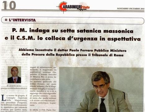 CDD GRANDE DISCOVERY : Magazine Carabinieri d'Italia intervista Paolo Ferraro | CDD | Scoop.it