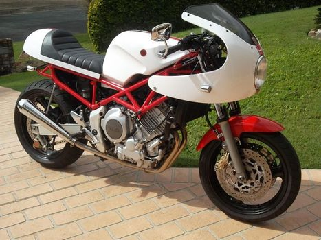 Troy's track day - TRX850 Cafe Racer | Great Bikes | Scoop.it