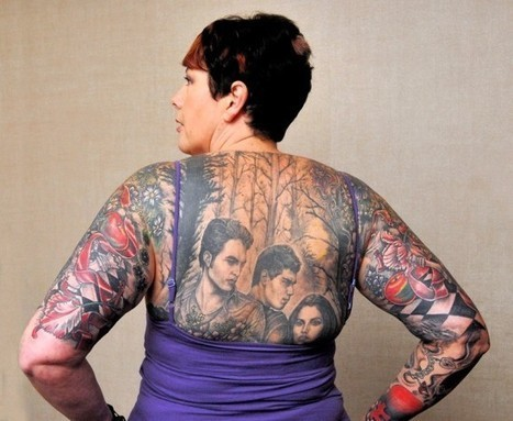 Die-Hard Fan Covers Her Body in Twilight-Related Tattoos | Strange days indeed... | Scoop.it