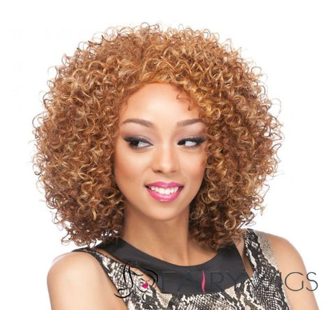 12 Inch Lace Front Curly Brown Top Quality High Heated Fiber Wigs : fairywigs.com | beauty-lover | Scoop.it