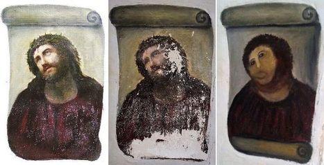 La restauratrice maladroite d'une peinture du Christ touchera des droits d'auteur | Clic France | Scoop.it