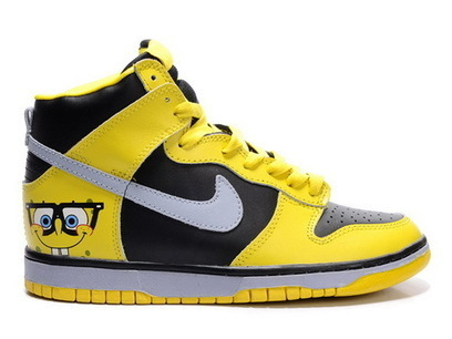 High Top Spongebob Squarepants Sneakers Glasses Nikes High Tops Spongebob Sneakers / Spongebob Nikes | Spongebob Nike Dunks | Scoop.it