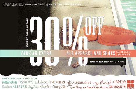 Sale | Cary Lane, 6/30-7/1 | San Francisco | Around Town | Scoop.it