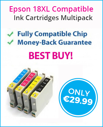 Unbelievable 20 Pack Deals of Epson 18XL Compatible Ink Cartridges at Only €29.99 | Find the Best Value Ink and Toner Cartridges with Multipack Deals in Ireland | Scoop.it