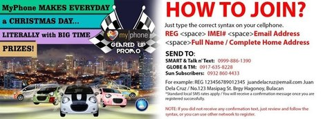 MyPhone Geared Up Promo Grand Draw on January 16, 2013 | MyPhone E-Mag | Scoop.it